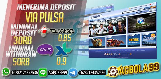 Situs Judi Taruhan Bola Sbobet deposit pulsa