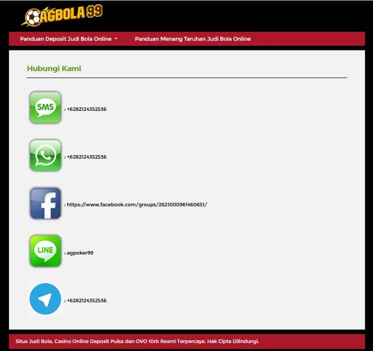kontak AGBOLA99
